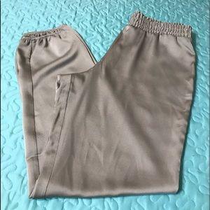 Boston Proper Gray silk pants.